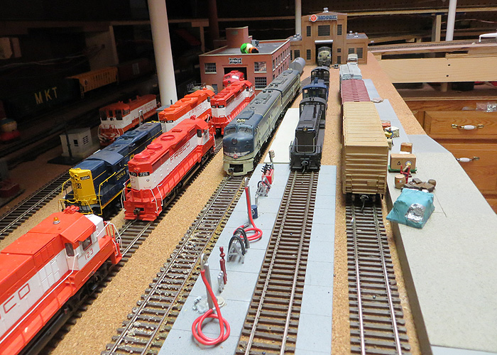 Lower Level: South Park Yard Loco Servicing and Team Track, South Park