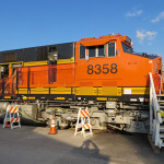 BNSF C4 Gevo #8358 was on display.