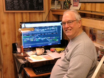 Mike at the computer CTC Board