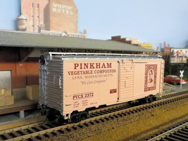 Pinkham boxcar at the Westburg Freight Depot