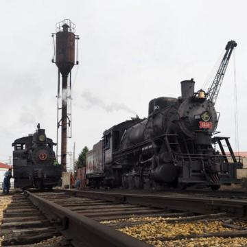 Shay #5 and Frisco #630 - Illinois Railway Museum
