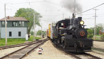 Shay #5 & The Tower - Illinois Railway Museum