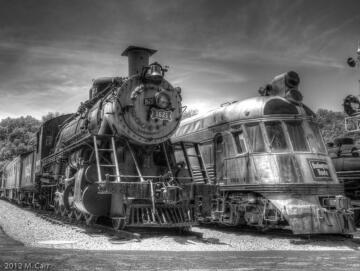 """Frisco 4-8-2 #1522 loco and CB & Q Northern Silver Charger #9908 """"Shovel Nose"""""""
