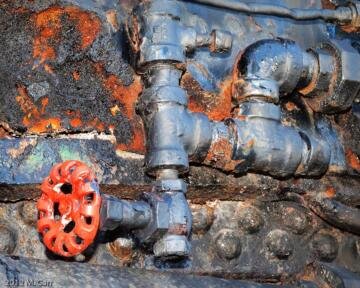 Steam loco valve and piping