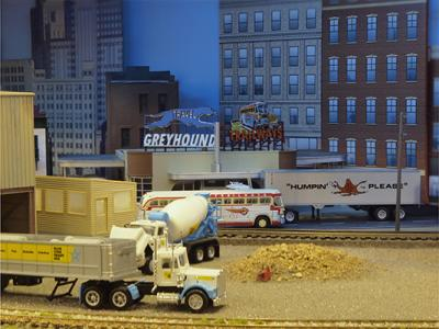 Blue Star Cement with Bus Station in background